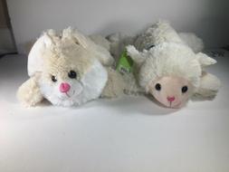 "Bunny & Lamb Stuffed Animal 14"" Plush NEW Super Soft"