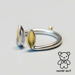 Bunny Ears and Tail Open Adjustable Ring Easter Rabbit 925 S