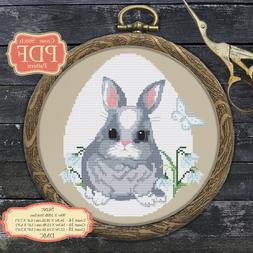 Bunny - Easter Egg - Animals - Modern Cross stitch PDF Patte