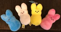 Peeps Bunny Plush Toy with Teenee Beanee Jelly Beans, 5 Inch