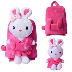 Gloveleya Bunny Rabbit Plush Kid's Backpack Shoulder Bags Ch