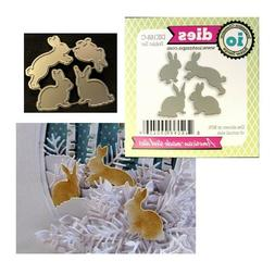 Bunny Rabbit Set American made Steel Dies by Impression Obse