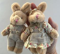 Bunny Rabbit Stuffed Animal Plush Animal Easter Basket Craft