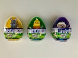 PEZ Candy mini-Dispenser EASTER Plastic Egg Lamb Bunny Chick