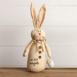 Cheeky Bunny Rabbit Doll Easter Egg Basket Primitive Country