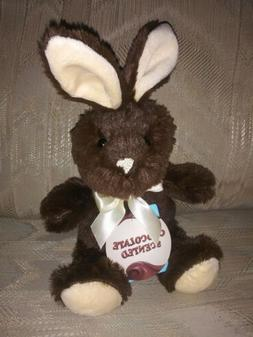"""Dan Dee Chocolate Scented Bunny Plush 7"""" NWT Brown Easter St"""