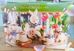 ***Clearance***Brand New 20pcs Easter Bunny Spring Girls Tea