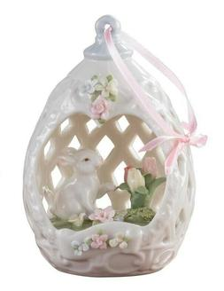 Victorian Trading Co Musical Easter Bunny Basket Panoramic C