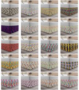 Ambesonne Colorful Scene Bedskirt Elastic Wrap Around Skirt