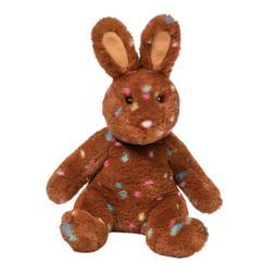 "Confetti Plush Stuffed Bunny Rabbit 10"" Brown rainbow Doug"