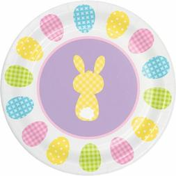"Cottontails Happy Easter Bunny 8 Ct 7"" Dessert Cake Paper Pl"