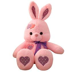 "Cuddly Giant Huge Easter Bunny Pink Rabbit Doll 51 "" Soft Ba"