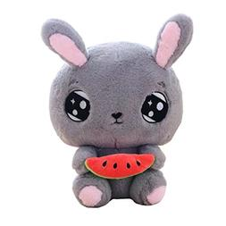 "18"" Cuddly Soft Stuffed Animal Toy Easter Rabbit Watermelon"