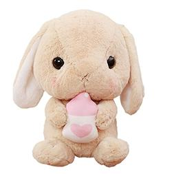 Cuddly Soft Stuffed Animal Toy Easter Rabbit Bottle Bunny Do