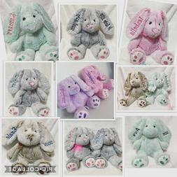 CUSTOM Personalized Embroidered Easter Bunnies Bunny plush w