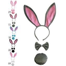 Cute Rabbit Bunny Ears Headband Bow Tie Tail Fancy Dress Par
