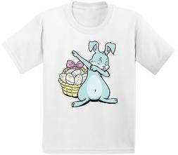 Dabbing Easter Bunny Shirt for Kids Easter Egg Hunt Kids Shi