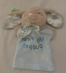 Dandee My First Puppet Easter Bunny Blue Rabbit Plush Velour