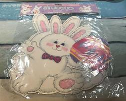 """Amscan Decoupages Cutouts 12""""  Easter Bunnys Eggs Double Sid"""
