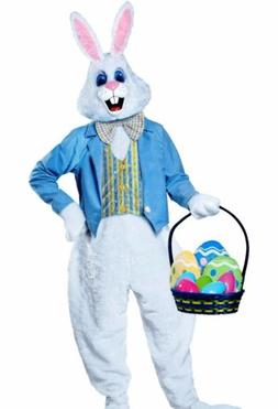 Deluxe Easter Bunny Costume Plush Adult Furry Rabbit Hare Ma
