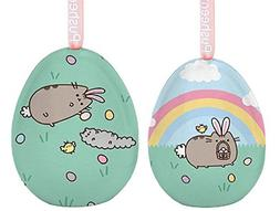 Dept 56 Pusheen Easter Bunny Tin Egg bundle with Egg Hunt Ti