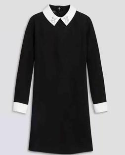 Victoria Beckham Dress Bunny Rabbit Collar Long Sleeve XS BL