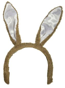 Easter Accessory - Light Brown Posable Bunny Rabbit Ears Hea