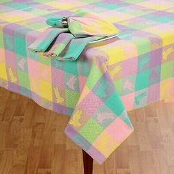 Easter & Spring Decor Tablecloth Bunny Hop Patchwork Plaid J