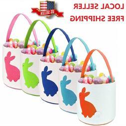 Easter Baskets Bucket For Kids Bunny Ears Bag Easter Eggs Hu