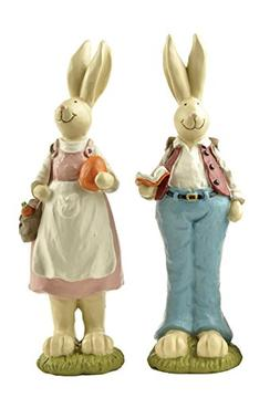 Easter Bunnies Hand Painted with Easter Rabbits Home Decorat