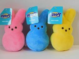 Easter Peeps Bunnies Stuffed Plush Bunny THREE 6 in