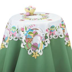 Easter Bunny and Basket Table Linens, by Collections Etc