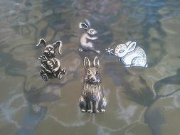 EASTER BUNNY ANIMAL JEWELRY 8 RABBIT PINS COLLECTION ALL NEW