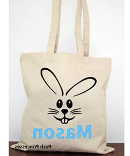 Easter Bunny Bag, Personalized Easter Bag, Easter Canvas Tot