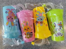 easter bunny bendy straw cups pack of