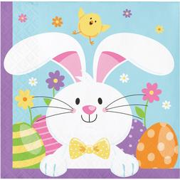 Easter Bunny Beverage Napkins, 48 Count