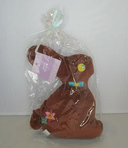 Easter Bunny Brown Rabbit Pet Dog Toy Plush Figure Spring De