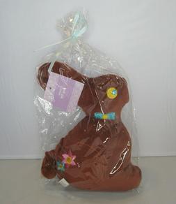 Easter Bunny Brown Rabbit Pet Dog Toy Plush Figure Spring De