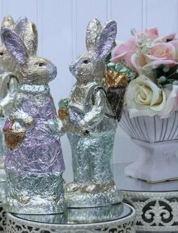EASTER Bunny by Gerson 1 Boy Foil Wrapped Faux Chocolate 9""