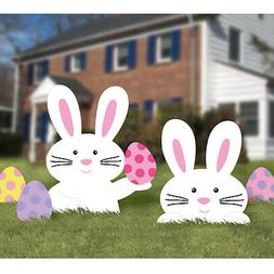 Easter Bunny Corrugated Garden Signs x 5