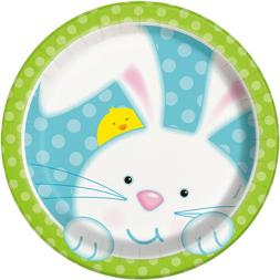 Easter Bunny Dessert Plates Decorations Favor Party Supply