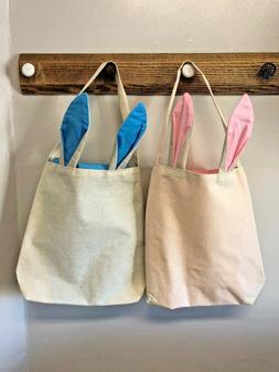 Easter Bunny Ear Easter Bag Jute Burlap Rabbit Gift Bag Egg
