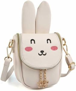 Easter Bunny Ear Purse Girls' Rabbit Shoulder Bag, Beige