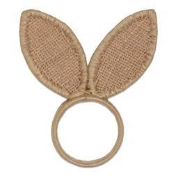 """Easter Bunny Ears Napkin Rings Jute Set of 4 NEW 4"""""""