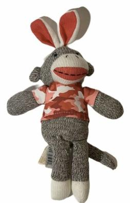 Dan Dee EASTER BUNNY Ears Rabbit Camouflage Pink SOCK MONKEY