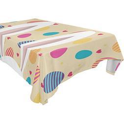 ColourLife Easter Bunny Eggs Tablecloth Modern Practical Gif