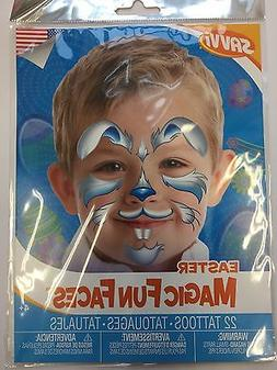 Easter Bunny Face Tattoos Teacher Supply Party Favors 2 shee