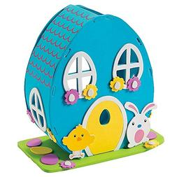 "8"" Easter Bunny Foam House Kit DIY Easter Craft"