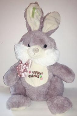 "Easter Bunny Gray Plush Rabbit 18"" Stuffed Animal Toy- Sup"