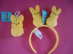 easter bunny headband plush yellow bunny